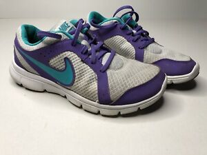 Girls Nike Flex Experience Pr Pltnm Size 6Y Purple And Gray Girls Shoes