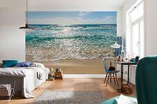 Carta da parati foto murale parete Sandy MARE SPIAGGIA ORIZZONTE camera da letto Decor 368x254cm