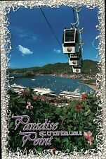 Tramway & Cruise Ships Paradise Point St. Thomas US Virgin Islands Ship Postcard