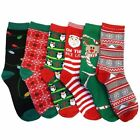 6 Pairs Refael Collection Christmas Style Socks - Size 9-11