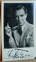 38293 Foto Ross Editore Autografo Ak Film Attore Erich Fiedler Del 1940