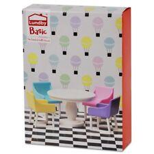 Lundby Basic Smaland 60.3056 Esszimmer Set - Tisch Stuhl Puppenhaus 1:18