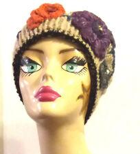 Cappello/donna/invernale/fiori/hat/basco/shabby/berretto/boho/rose/San Valentino