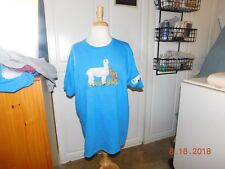 EMBROIDERED ALPACA MOM AND BABY SCENE T-SHIRT ADD NAME FOR FREE