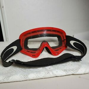 Oakley Goggles Red Youth Young Adult Size Vented Some Scratching on Lens OA1A20