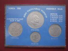 Tonga 1967 4 MEDAGLIA Set 20 SENITI - 2 paanga in caso di plastica INCORONAZIONE UNC