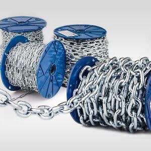 Stahlkette verzinkt DIN Rundstahlkette Eisenkette kurzgliedrig & langgliedrig