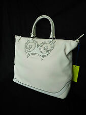 BNWT Nuovo VERSACE JEANS VJC XL BELLISSIMO Inverno Bianco Big Faux Leather Tote Bag