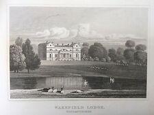 1831 Print; Wakefield Lodge, Whittlebury, Northamptonshire