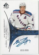 2009-10 SP Authentic #231 Auto RC Michael Del Zotto #'d 53 / 999 NY Rangers