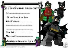 5 cartes invitation anniversaire  Lego Batman 05   d'autres en vente !!