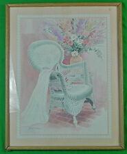Vintage Framed Signed Gloria Eriksen Watercolor Painting