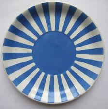 French blue and white ceramic SAUCER, Sarreguemines: model Fox Trott, 3/4