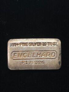 Engelhard 10 Troy Ounce Silver Bar P172326