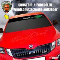 884 Windschutzscheibe Aufkleber  SKODA Motorsport LOGO sunstrip design