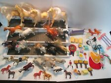 Large Lot Plastic Toy Horses