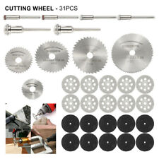30x Mini Diamond Cutting Discs Grinding Wheel Blades Drill Bit For Rotary Tool
