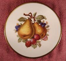 Vintage Mitterteich Bavaria Germany Desert/ Cabinet Plate with Fruit/Gold Trim