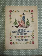 "Should Auld Acquaintance Be Forgot Needlepoint Sampler - 10 1/2"" x 14"""