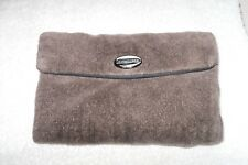 "Liz Claiborne Clutch Purse Brown Soft Cotton Material  ""Must See"""
