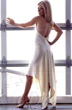 jolie robe mariée mariage cocktail blanche avec bijoux t36 neuve