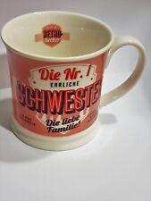 Tasse Schwester Becher Kaffeetasse Retro Design H&H Porzellan Geschenk