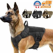 NEW Tactical Dog Vest Harness – Military K9 Dog Training Vest – Working Dog USA