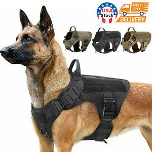 NEW Tactical Dog Vest Harness – Military K9 Dog Training Vest – Working Dog USA