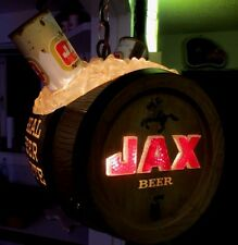 vtg JAX Beer Spinning Motion Sign /  Rotating Bar Light Clock - New Orleans LA