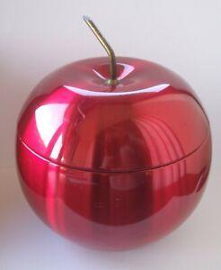 A Vintage/Retro  Anodised Aluminium Lemar Red Apple Shaped Ice Bucket 1960's ??