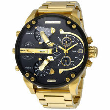 NEW AUTHENTIC Diesel DZ7333 MR DADDY 2.0 Gold Multiple Time Chronograph Watch