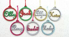 Personalised name Christmas baubles (set of 7)