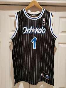 Reebok Hardwood Classics Pinstripe NBA Orlando Magic Tracy McGrady Jersey Sz L