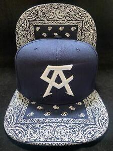 Canelo Alvarez Hat bandana brim naVy blue BOXING CHAMPION SNAPBack New Rare