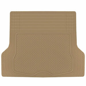 BDK Trunk Cargo Floor Mat for Car SUV Van All Weather Heavy Duty Beige