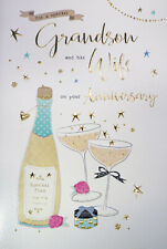Grandson & Wife Wedding Anniversary Card