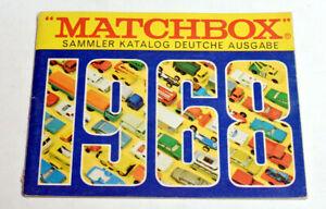 Matchbox Lesney Modellauto Katalog 1968  deutsch 40 Seiten 10,5 x 14 cm