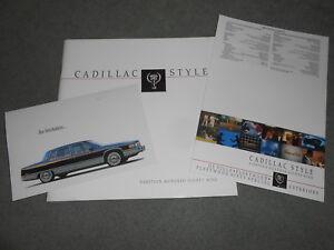 1989 CADILLAC 82 p. PRESTIGE CATALOG + 89 DEVILLE FLEETWOOD PAINT CHIPS BROCHURE