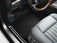 Original VW Phaeton Gummi Fußmatten vorn schwarz mit Schriftzug Gummimatten