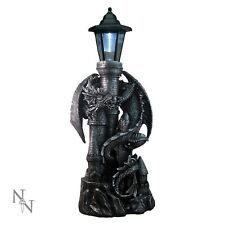 Nemesis Now Dragon Castle Lantern Solar Powered Outdoor Garden Light Gothic 53cm