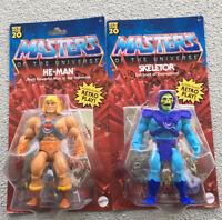 2020 Lot Of 2 Masters of the Universe Origins He-Man Skeletor Battle Figure MOTU