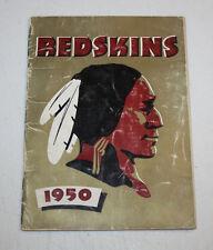 1950   Annual Media Guide   Washington Redskins