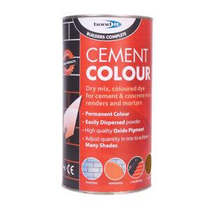 Bond It | Powder Cement Dye | BROWN Mortar Pointing Render Concrete Toner | 1KG