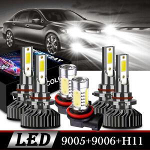 6x LED Headlight Kit 9005 9006 Hi/Lo Beam H11 Fog Bulb for DODGE Charger 2007-09
