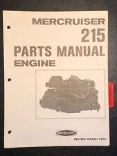 1974 Merc Mercury 215, Marine Engine Parts Manual List Catalog