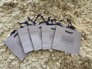 "5 x Authentic Bergdorf Goodman Small Shopping Gift Tote Bag 9"" x 7.75"" x 4.5"""