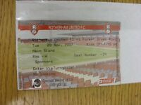 20/11/2007 Ticket: Rotherham United v Forest Green Rovers [FA Cup] (Sponsors). T
