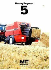 Massey Ferguson MF 5 Square Baler  Brochure/ Leaflet 1985 9132E