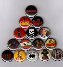 """GRINDHOUSE 1"""" PINS / BUTTONS (death proof planet terror tarantino poster print)"""