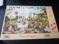 HOP HOUSE OF PUZZLES - 1000 PIECE JIGSAW PUZZLE - GREEN FINGERS - COMPLETE